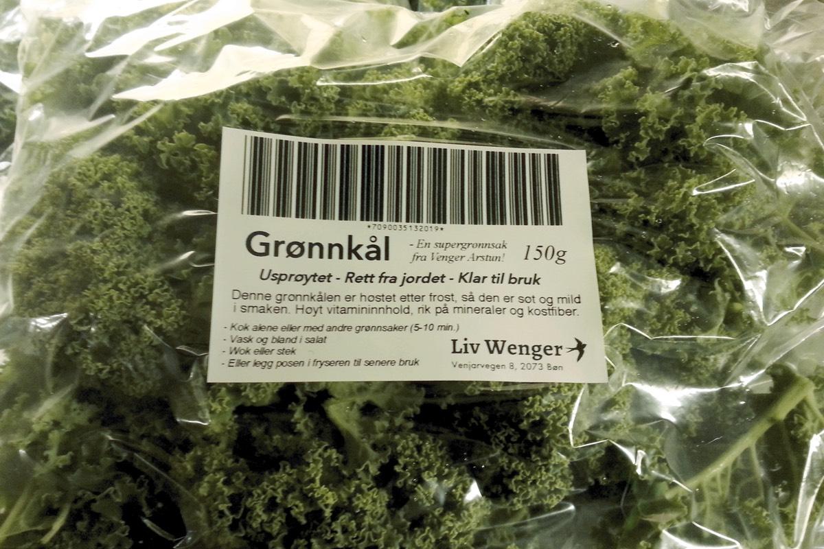 Pakket grønnkål
